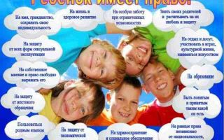 Защита прав ребенка в российской федерации: положения законодательства и реальные примеры из жизни