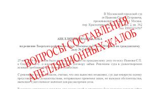 Как подать апелляцию на решение суда: образец заявления, порядок действий